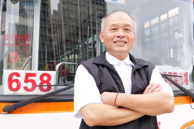 公車優良駕駛員陳金峰。(圖/新北市交通局提供)