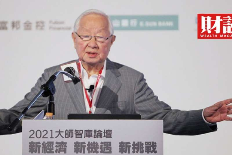 台積電創辦人張忠謀21日以「珍惜台灣半導體晶圓製造的優勢」為題演講,公開談台積電的未來。(圖/陳俊松攝)