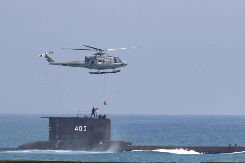 印尼海軍的德造潛艦KRI Nanggala-402在峇里島北方約95公里海域失聯。(美聯社)