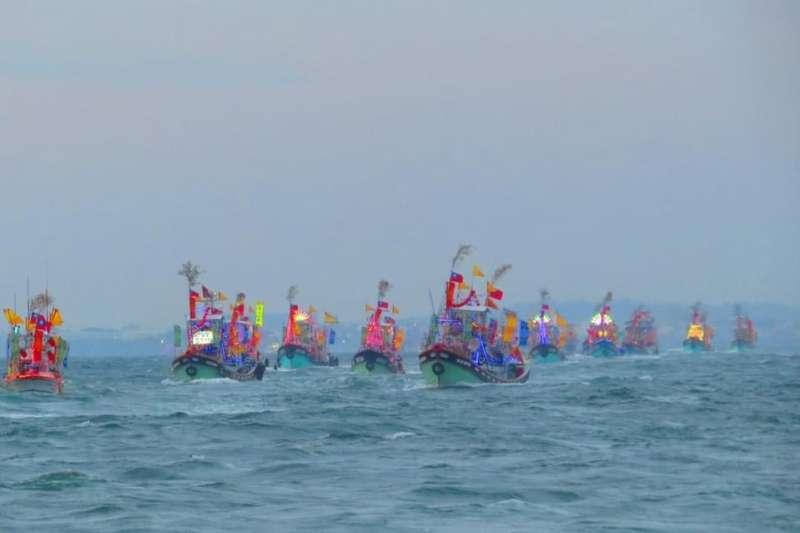 四年一科海上盛事,「林園鳳芸宮媽祖海巡」紀錄照片。(圖/高雄市文化局提供)