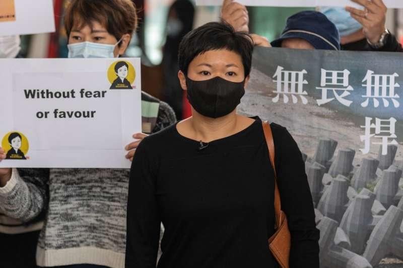 蔡玉玲是香港首位因查冊而被起訴刑事罪行的記者。(BBC中文網)