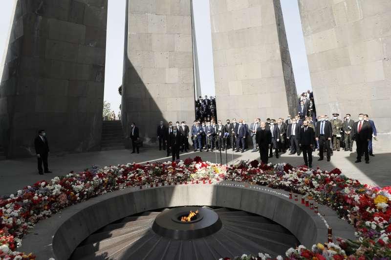 每年4月24日是亞美尼亞種族滅絕紀念日(AP)