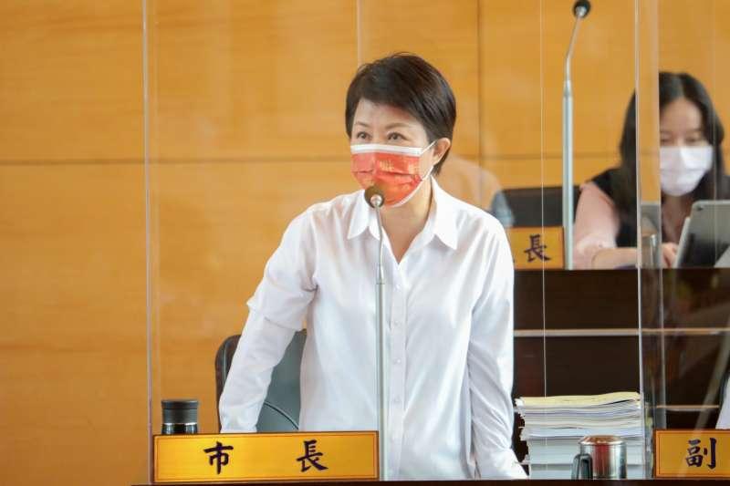 針對多名台中市議員關心台中市的萊豬管制機制,市長盧秀燕27日在市議會做出回應。(台中市政府提供)