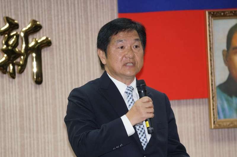 2010427-台鐵局27日舉行局長交接典禮,代理局長祁文中出席。(盧逸峰攝)