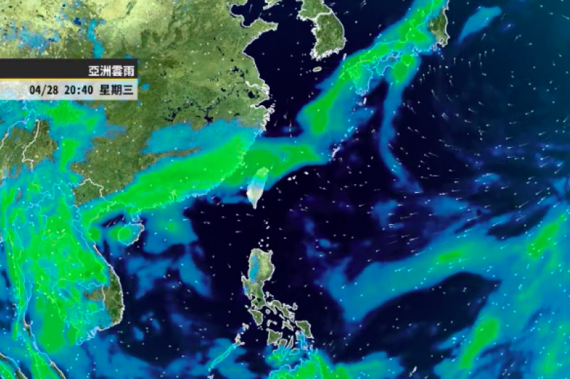 中央氣象局今(27)日表示,明(28)日鋒面逐漸靠近,北部、東半部地區有局部短暫雨,周四(29日)將有鋒面快速通過。(取自氣象達人彭啟明臉書)