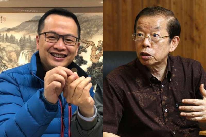 羅智強(左)批謝長廷(右)對疫苗乞丐的批評是「好的給謝長廷拿,壞的給羅智強扛」。(資料照,郭晉瑋攝、取自羅智強臉書/影像合成:風傳媒)