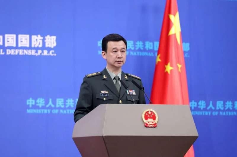 中國國防部新聞局局長、國防部新聞發言人吳謙大校。(翻攝網路)