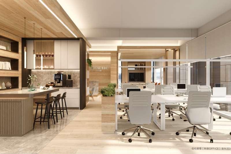 信松廣場「新創OFFICE」室內3D示意圖。(圖/業者提供)