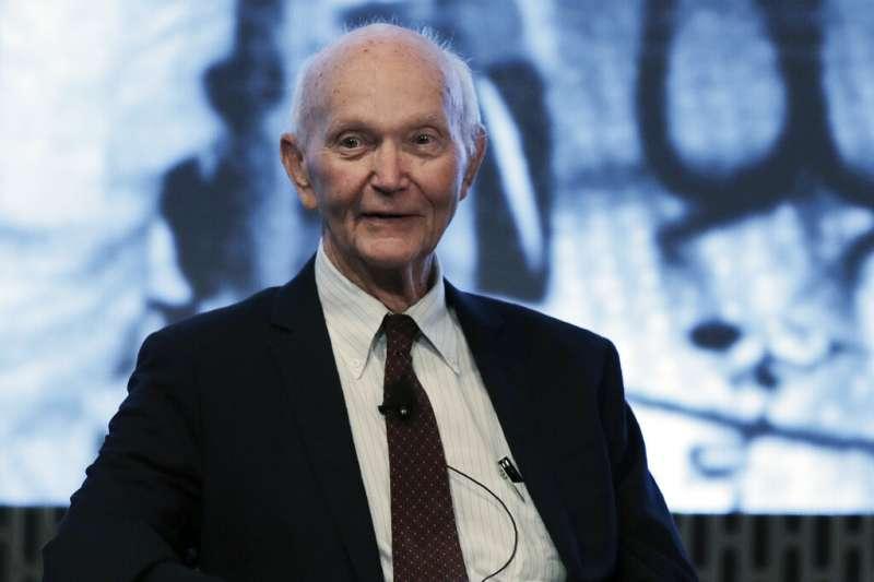 參與阿波羅11號(Apollo 11)登月行動的美國太空人柯林斯(Michael Collins)。(美聯社)