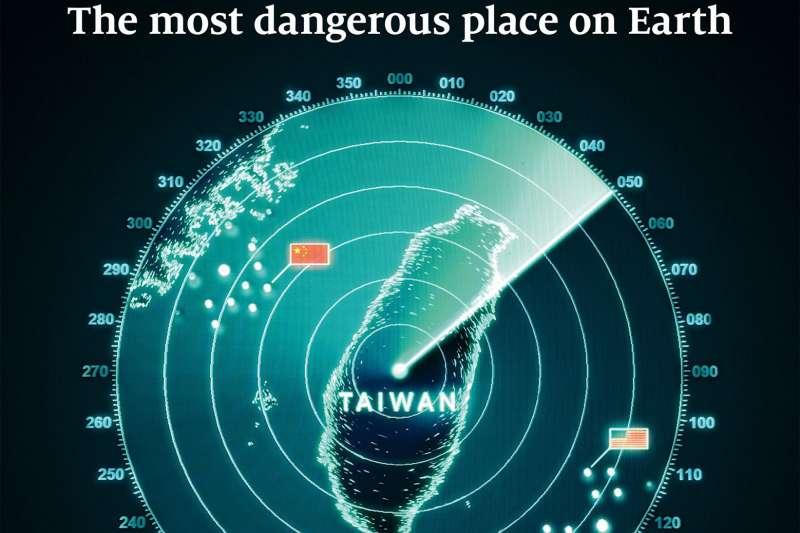 2021年5月1日出版的《經濟學人》稱,台灣是世界上最危險的地區。(取自經濟學人臉書)