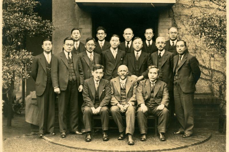 20210430-1936年,受日本政府邀請造訪日本的杜波依斯。(作者提供)
