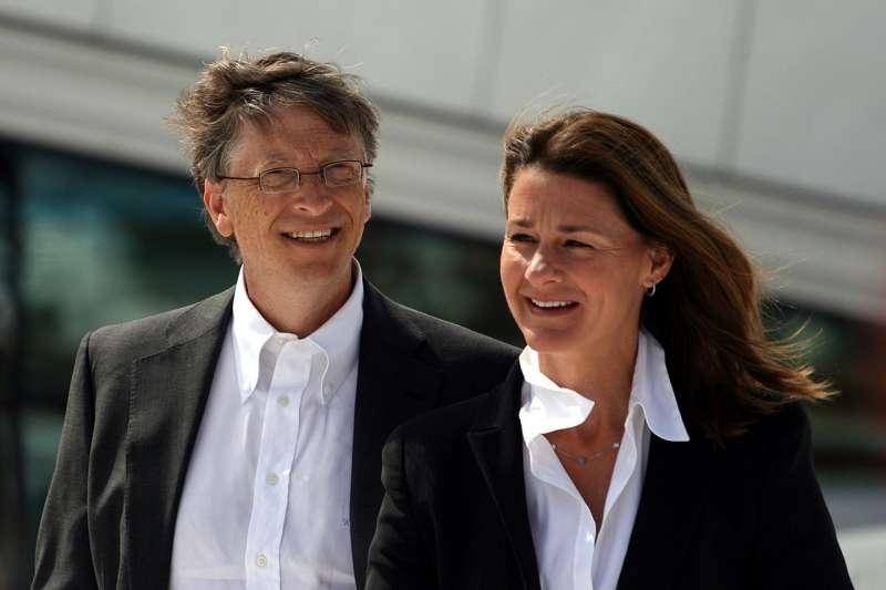 微軟公司創辦人比爾.蓋茲(Bill Gates)與妻子梅琳達(Melinda Gates)驚傳離婚。(圖/取自維基百科)