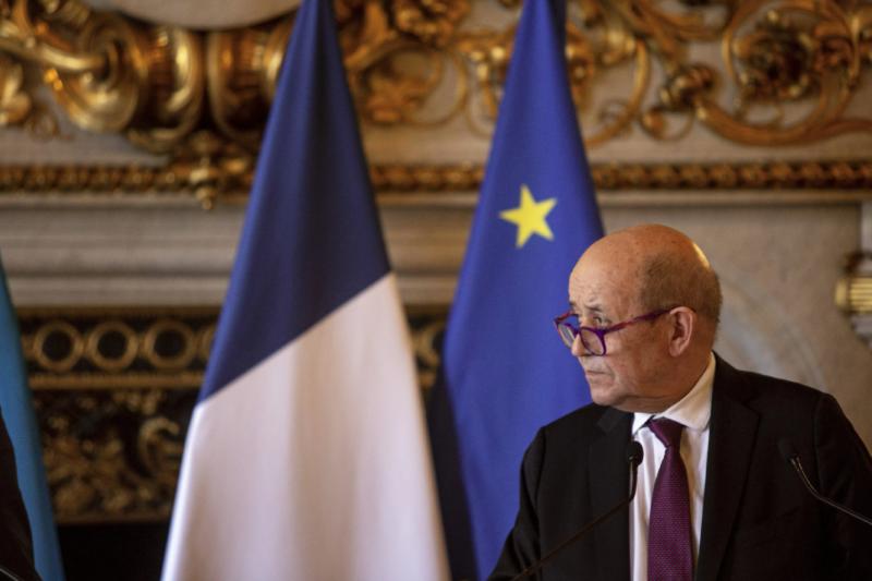 法國外交部長勒德里安(資料照,AP)