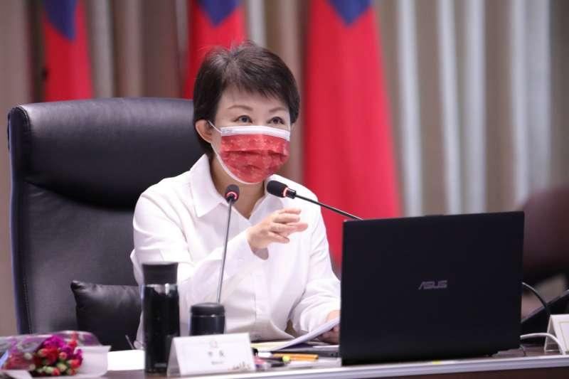 台中市長盧秀燕民調飆高成為國民黨一姐,也成了民進黨的箭靶之一。(圖/臺中市政府提供)