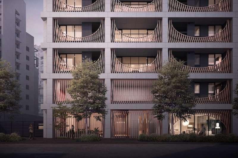 大陸建設邀國際當紅的如恩設計團隊感性操刀,將在地元素融入世界級設計,讓天母「鐫月」案建築美學帶有國際品味。(圖/業者提供)