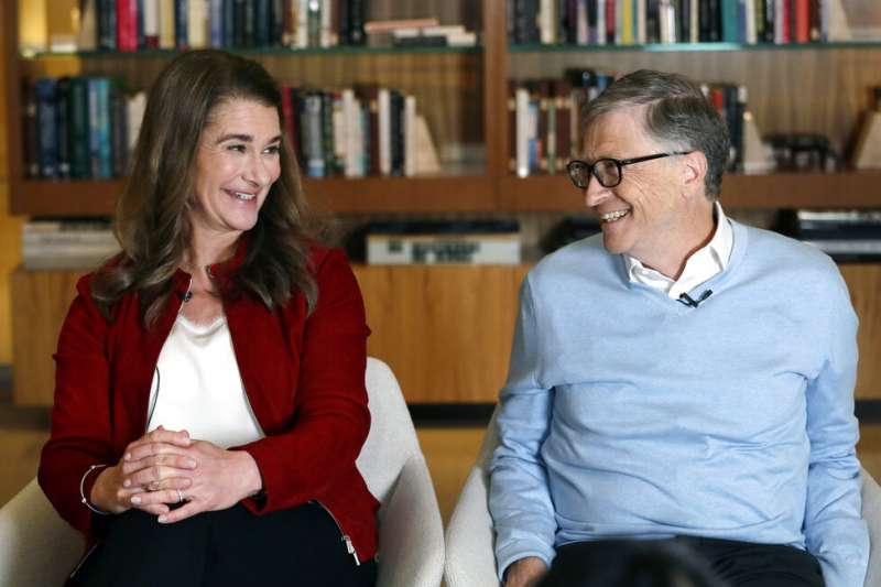 微軟創辦人比爾蓋茲與妻子梅琳達驚傳離婚。(美聯社)
