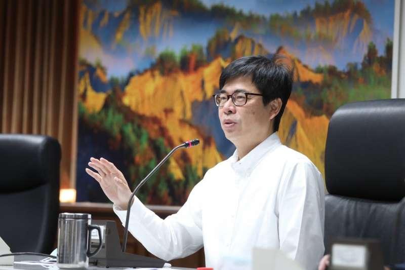 指揮官陳其邁日前召開第六次旱災應變中心會議,宣示優先保障穩定的民生供水。(圖/高市水利局提供)