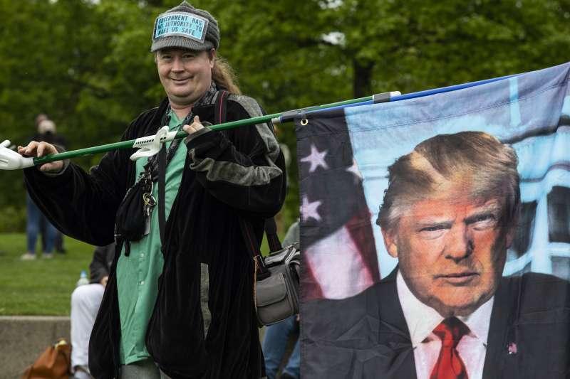2021年5月,卸任後的美國前總統川普(Donald Trump)仍有不少支持者(AP)