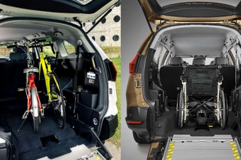絕大的後車廂空間,無論是輪椅或是自行車,都能輕鬆放入。(圖/納智捷汽車提供)
