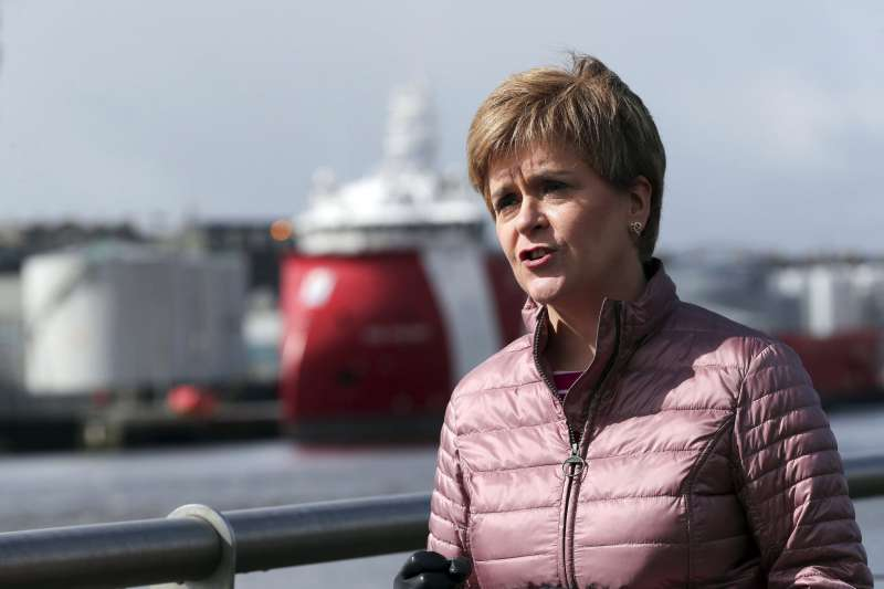 2021年5月,蘇格蘭議會選舉,蘇格蘭民族黨(SNP)領導人史特金(Nicola Sturgeon), 力倡蘇格蘭獨立(AP)