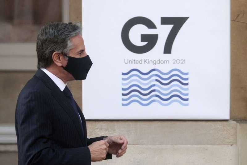 七大工業國(G7)外長會議2021年5月3至5日在英國舉行實體會議,美國國務卿布林肯出席(AP)