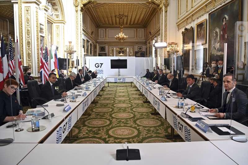 七大工業國(G7)外長會議2021年5月3至5日在英國舉行實體會議(AP)