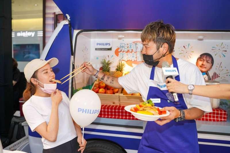 冒險家創意玩餐車,KID擔任一日店長。(圖/業者提供)