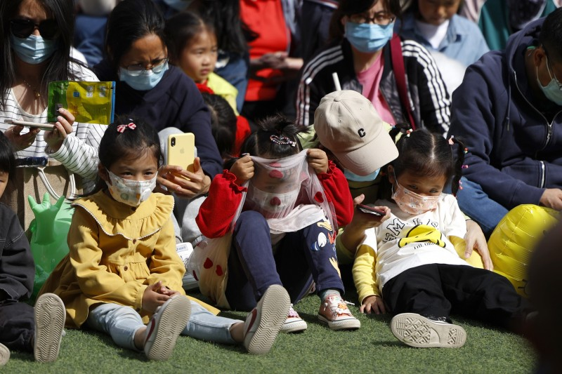 中國人口、生育、少子化、兒童。(AP)