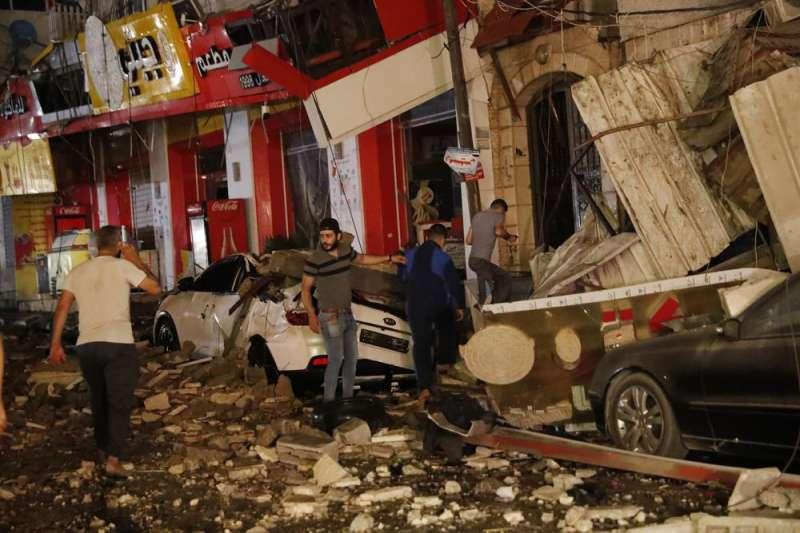 以巴衝突、以色列空襲加薩走廊,民眾驚恐不安。(AP)