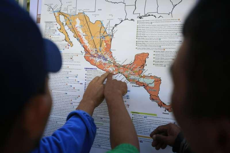 中美地峽的北三角國家人民大量北移非法入境美國(資料照,AP)