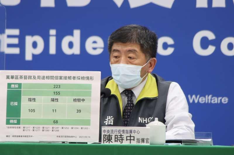 中央流行疫情指揮中心指揮官陳時中(見圖)宣布國內新增245例新冠肺炎確診病例。(資料照,中央流行疫情指揮中心提供)