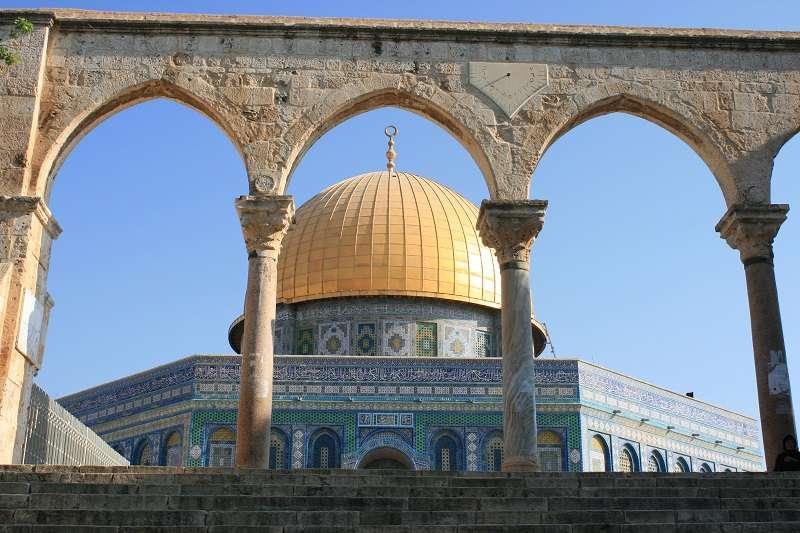 耶路薩冷聖殿山的清真寺。(謝國榮提供)