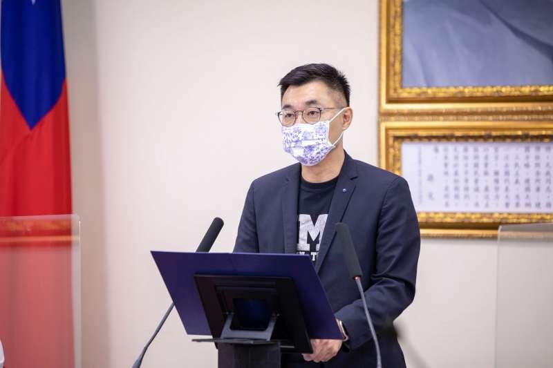 江啟臣質疑,已經有200多位民眾在這場疫情中喪生,人民的生命不應被孤注一擲。(資料照,國民黨提供)