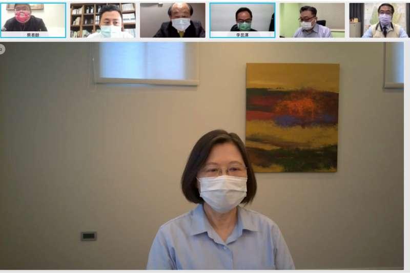 總統府回應路透社報導,表示總統蔡英文從未在記者會中說泰國阻擋疫苗出口。(民進黨中央提供)