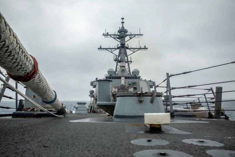 20210519-美國海軍第七艦隊18日通過台海。(取自美國海軍第7艦隊官網)