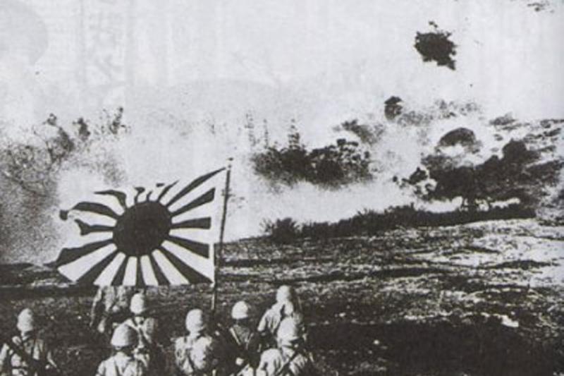 進攻廣東的日本帝國海軍陸戰隊。(支那事変記念海軍写真帖刊行会 編)