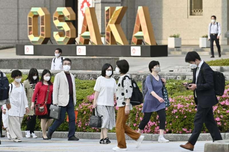 日本大阪受到新冠疫情嚴重衝擊(美聯社)