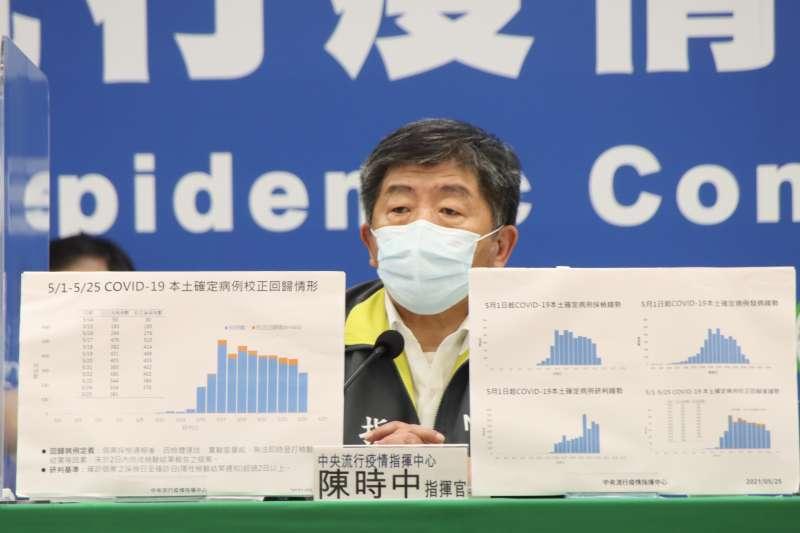 中央流行疫情指揮中心召開記者會說明疫情,指揮官陳時中出席。(資料照片,指揮中心提供)