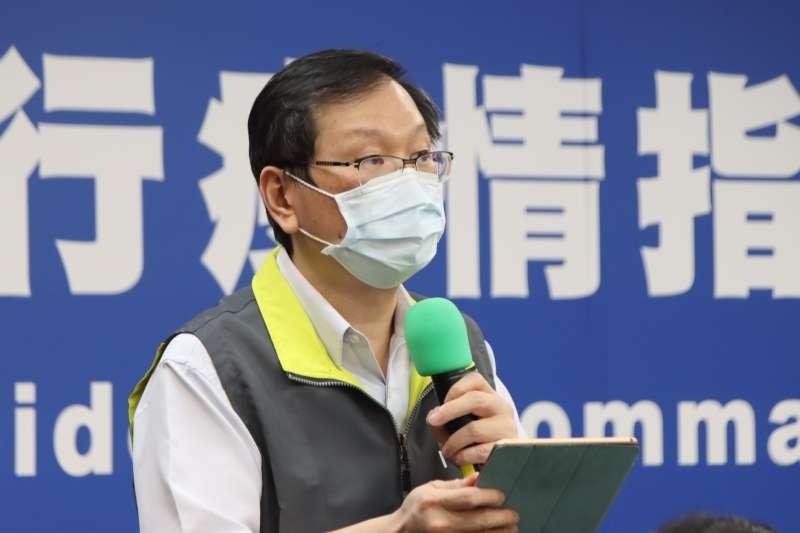 20210525-中央流行疫情指揮中心25日召開記者會說明疫情,發言人莊人祥出席。(指揮中心提供)