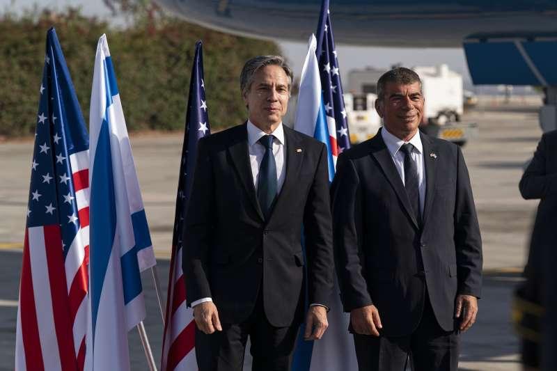 美國國務卿布林肯與以色列外長阿什肯納齊(AP)
