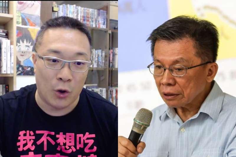 前立委沈富雄在政論節目提及BNT疫苗,名嘴「宅神」朱學恒26日直呼「台灣在疫苗施打方面,根本是未開發國家。」(資料照,顏麟宇攝、取自朱學恒臉書/照片合成:風傳媒)