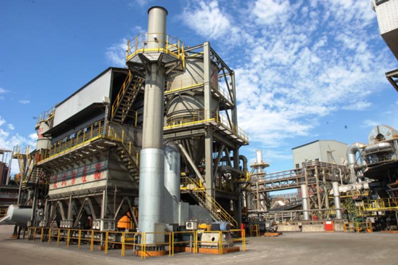 中鋼公司積極推動各項節能減碳工作,近年的環保改善成效亦有顯著成果圖中為環保設備袋式集塵器。(圖/中鋼提供)