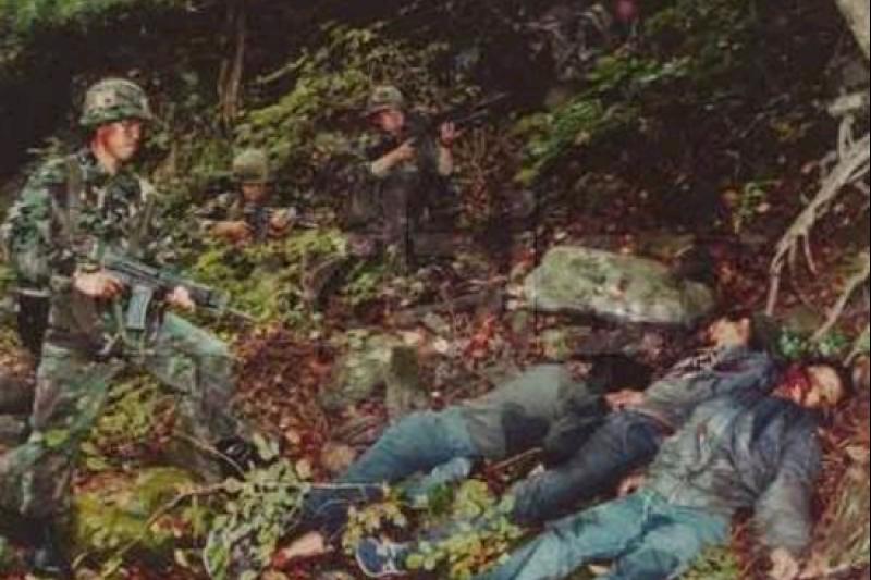 被擊斃的北韓特工。(賈忠偉提供)