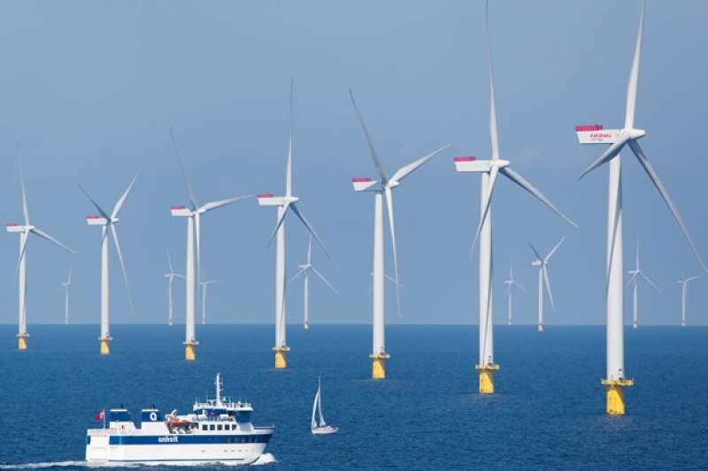 台灣的海域風電場。(胡僑華提供)