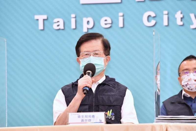北市好心肝診所爆發私打疫苗爭議,台北市衛生局長黃世傑(見圖)表示已向市長請辭。(資料照,北市府提供)