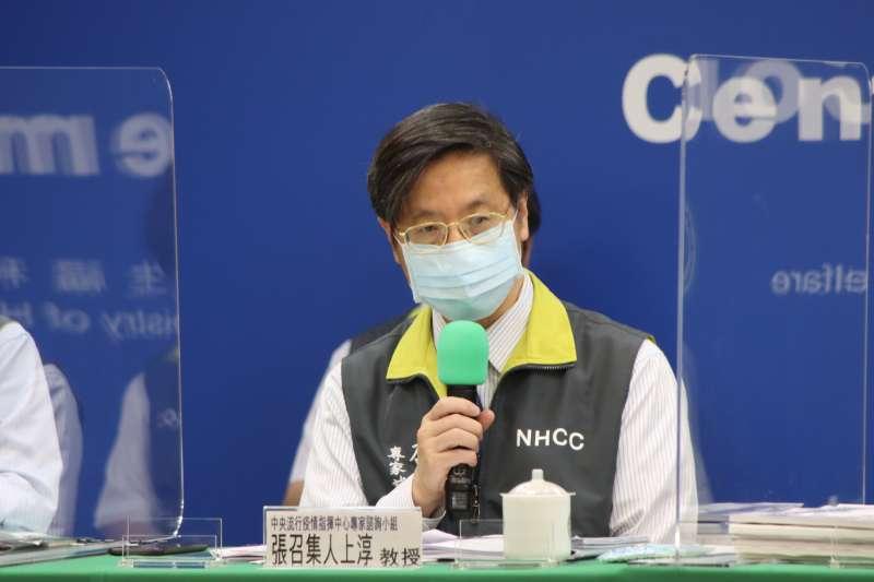 中央流行疫情指揮中心專家小組召集人張上淳出席,此波疫情並沒有病毒株突變狀況。(資料照,指揮中心提供)