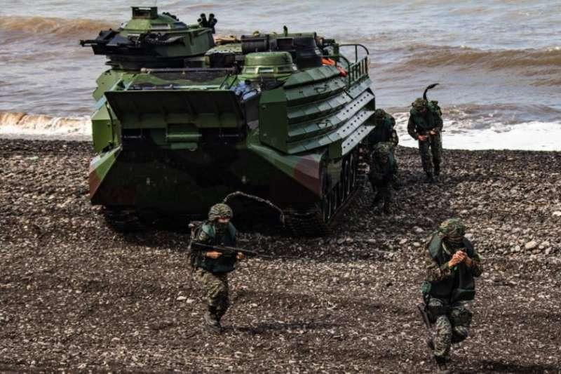 台灣軍方年度漢光演習三軍聯合反登陸作戰於2020年7月16日展開。(台灣國防部提供)