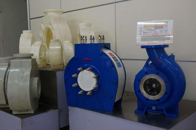 殷聖工程自行研發的泵浦,品質和規格超越許多歐美日廠商。(圖/王宣喬)
