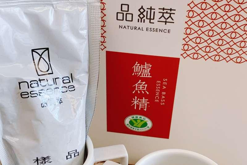 純粹喝鱸魚精是HPP高壓低溫殺菌技術的再運用,也是台灣第一支獲得雙向認證的鱸魚精產品。(圖/王宣喬)
