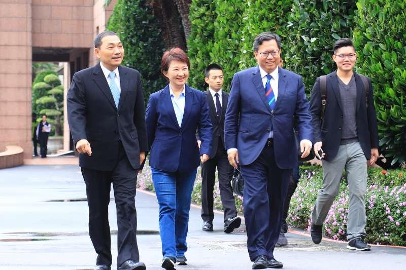 網路媒體通過民意調查,公布1份10大政治領袖排名,台中市長盧秀燕則是排名大躍進,排名第七,成為十大政治領袖中的唯一女性。(圖/台中市政府)
